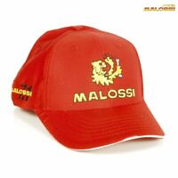 "MALOSSI M4134310 CAPPELLO -LOGO"" RED - UNISEX - EMBROIDERED - 100% COTTON"