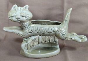 60/'s California Pottery Originals C-65-11 Beige with White Spatter Large Art Deco Planter Centerpiece Very Rare