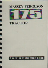 "Massey Ferguson ""175"" Tractor Operator Instruction Manual Book"