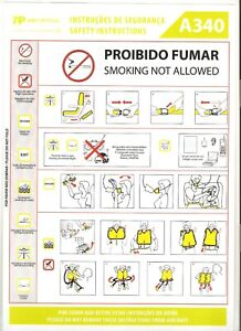 TAP AIR PORTUGAL A340 REV02 18SET17 SAFETY CARD