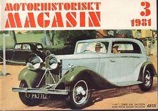 Motorhistoriskt Magasin Swedish Car Magazine 3 1981 MHS 040317nonDBE