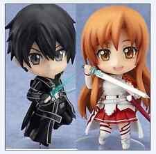 "Sword Art Online Asuna #283 Kirito #295 Nendoroid 4"" PVC Figure Set New in Box"