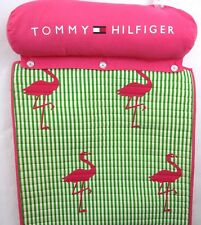 Tommy Hilfiger Quilt Rollup Beach Pool Lounge Pillow Mat Blanket Flamingo Print