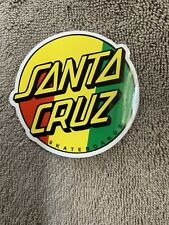 New listing SANTA CRUZ Skate Red Yellow Green Dot Sticker Logo skateboard helmets decal