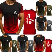 New Men's Bruce Lee Casual T-Shirt  Kung Fu Short Fan's Gift Vest Sleeve Top Tee