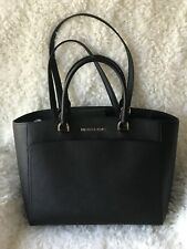 MICHAEL KORS EMMY LARGE DOUBLE HANDLE TOTE BAG Black Purse NWT