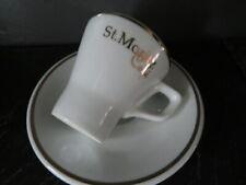 """Espresso Tasse mit Unterteller """"Café St. Moritz"""" Schweiz"""