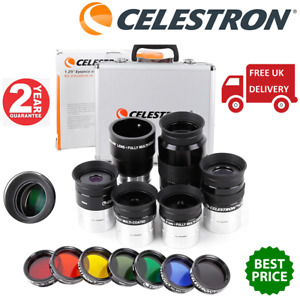 Celestron 1.25 Inch Eyepieces and Filters Kit 94303 (UK Stock)