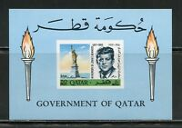 QATAR JF KENNEDY MEMORIAL IMPF REVALUED SOUVENIR SHEET SCOTT#119B  MINT NH