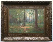 Alfred Jansson -Illinois Landscape in Beautiful Frame -Great Art & Crafts Look