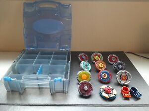 Beyblade Metal Masters Lot of Beyblades and Parts With Carrying Case