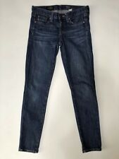 J.CREW Womens Jeans 25 Toothpick Ankle Denim Medium Dark Wash Skinny