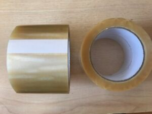 EXTRA WIDE HEAVY DUTY CLEAR PARCEL PACKING TAPE 75MM x 66M x 4 ROLLS