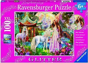 Ravensburger Disney Princess with Unicorn Puzzle GLITTER  Puzzle 100pc 6+