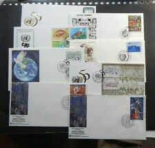 United Nations Ny 1995 set of Fdc 655 through 667 unaddressed cacheted. 9 Fdc