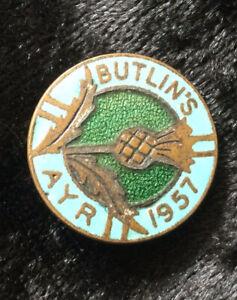 Vintage Butlins 1957 Ayr Badge
