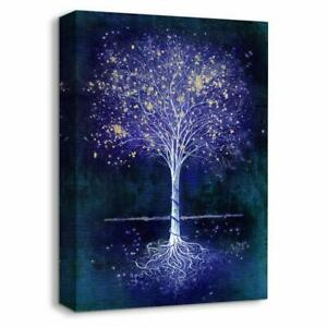 wall26 - Canvas Wall Art Abstract Tree Painting Artwork - 16x24 inches