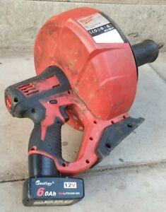 Milwaukee M12 BDC6 Drain Cleaner 12V 0-500min¹ with 6Ah replacement Battery
