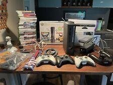 Microsoft Xbox 360 Elite Console 120Gb Kinect Hd Dvd Controllers WiFi 28 Games