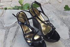 """Chaussure Femme Semelle compensées """"MOSQUITOS"""" Noir vernis  Pointure 39"""