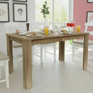 Contemporary Dining Table Elegant Wooden Kitchen Furniture Rectangular Durable