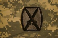 VELCRO ® Military Patch US Army 10th Mountain Division ACU Authentic Perfect Con