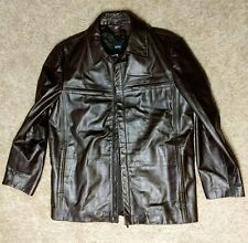 "*NWOT* HUGO BOSS ""Chiron"" Dark Brown Calfskin Leather Jacket US 42 / Euro 52"