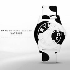 Marc By Marc Jacobs Women's Sloane Black & White Silicone Band Watch MBM4026