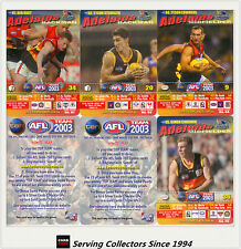 2003 AFL Teamcoach How To Play Trading Card Team Set Adelaide (10)
