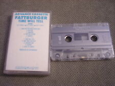 RARE ADV PROMO Fattburger CASSETTE TAPE Time Will Tell JAZZ Steve Laury INTIMA !