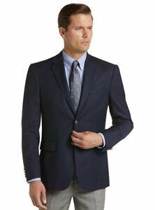 Jos. A. Bank Men's 2 Button Blazer Size 60 Long NWT Navy Blue 60L Wool Jacket