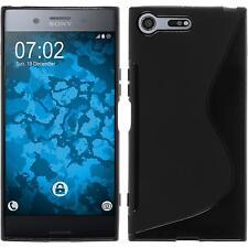 Funda de silicona Sony Xperia XZ Premium S-Style - negro + protector de pantalla