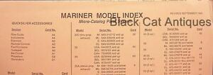 Original Mariner Model Index - Micro-Card Parts System CHART September 1989