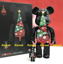 Medicom Be@rbrick 2017 Christmas 400% + 100% Stained Glass Xmas Tree Bearbrick