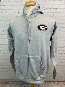 GEORGIA BULLDOGS Hanes Men's Medium Full Zipper Hoodie Sweatshirt