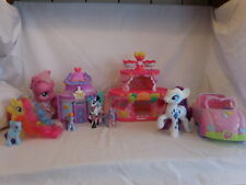 My Little Pony Roller Skate Party Cake House + Mark Magic Rarity Booktique + Car