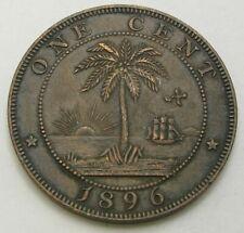 LIBERIA 1 Cent 1896 H - Bronze - VF- - 3098