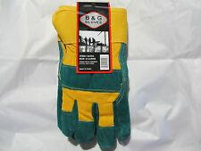 Mens Pile Lined Split Cowhide Leather Work Gloves Sz X-Lg