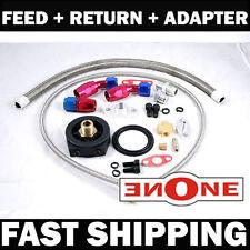 Turbo Oil Return Drain+ Feed Line + Sandwich Adapter BMW E30 E36 M20 Audi VW TT