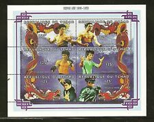 Chad Sc #715A, 715B, & 715O Bruce Lee and Deng Xiaoping Martial Arts