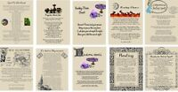 Wicca Book of Shadows 10 pages HEALING SPELLS on Parchment with color images