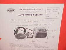 1953 CADILLAC FLEETWOOD 75 LIMOUSINE UNITED MOTORS DELCO GM RADIO SERVICE MANUAL