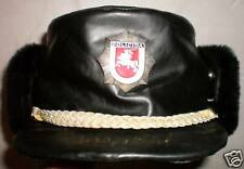 Original Lithuania Police Winter Leather Hat Cap