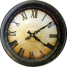 Crystal Dome Button Steampunk Clock Face wNeat Border!