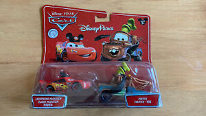 Disney Pixar Cars - Disney Parks MICKEY LIGHTNING McQUEEN & GOOFY MATER