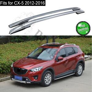 Roof rack fits for Mazda CX-5 CX5 2012-2016 aluminum roof rail 2PCS silver bars