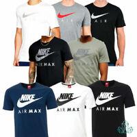 Nike Mens T-Shirt AIR MAX Athletic Tee Reflective Black White Olive Blue Grey