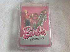 Nip Vintage 1995 Mattel Barbie Doll Keychain Set of 2 in Plastic Box Basic Fun