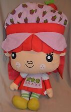"32"" HUGE Strawberry Shortcake Plush Doll Toys Girls BIG LARGE Kid Life Size RARE"