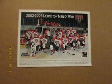 Echl Lexington Men O'War Vintage Defunct Circa 2002-2003 Logo Hockey Team Photo